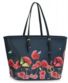 Kabelka Large Butterfly - Navy